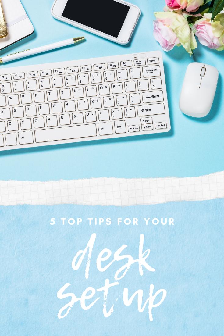 desk setup ergonomic tips